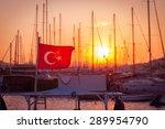 bodrum marina at sunset turkey | Shutterstock . vector #289954790