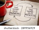 the same old thinking and... | Shutterstock . vector #289956929