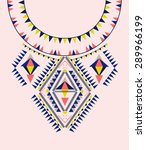 ethnic neck embroidery for... | Shutterstock .eps vector #289966199
