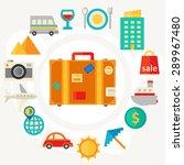 flat design concept for travel... | Shutterstock .eps vector #289967480