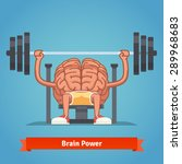 athletic and fit brain pumping... | Shutterstock .eps vector #289968683