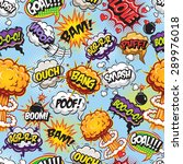 comics pattern with speech and...