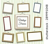 vintage photo or picture frames ... | Shutterstock .eps vector #289991048