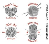 knitting labels and knitwear... | Shutterstock .eps vector #289991060
