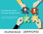 creative business concept... | Shutterstock .eps vector #289992950