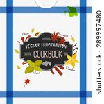 colorful cover for cookbook ... | Shutterstock .eps vector #289997480