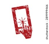 red grunge icon with image of...