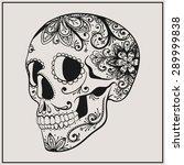 vector black tattoo sugar...   Shutterstock .eps vector #289999838
