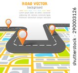 road vector information... | Shutterstock .eps vector #290003126