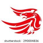 phoenix tattoo vector | Shutterstock .eps vector #290004836