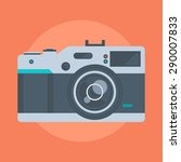 camera flat style  colorful ... | Shutterstock .eps vector #290007833