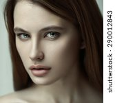 closeup sensual beauty portrait ... | Shutterstock . vector #290012843
