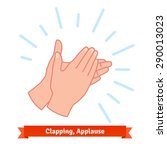 illustration of clapping... | Shutterstock .eps vector #290013023