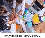 business team with hands... | Shutterstock . vector #290013938