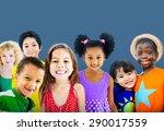 diversity children friendship... | Shutterstock . vector #290017559