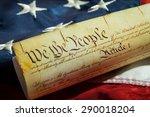 us constitution  patriotism ... | Shutterstock . vector #290018204