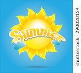 beautiful summer illustrations .... | Shutterstock .eps vector #290020124