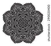 elegance hand drawn round black ... | Shutterstock .eps vector #290020400