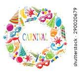 illustration festive round... | Shutterstock . vector #290020679