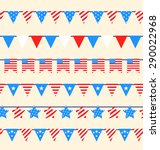 illustration hanging bunting... | Shutterstock . vector #290022968