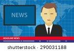 news anchor men headline tv | Shutterstock .eps vector #290031188