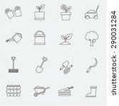 set of garden thin line icons | Shutterstock .eps vector #290031284