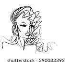 vector  stylish  original hand... | Shutterstock .eps vector #290033393