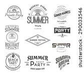 summer holiday party festival ... | Shutterstock . vector #290033546