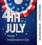 usa independence day vector... | Shutterstock .eps vector #290035580