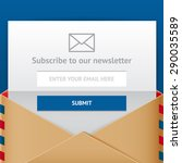 subscribe web form  vector flat ... | Shutterstock .eps vector #290035589