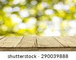 wooden floor and bokeh for... | Shutterstock . vector #290039888