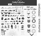 set of vector outdoor adventure ...   Shutterstock .eps vector #290041643