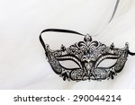 dress up black mask with... | Shutterstock . vector #290044214