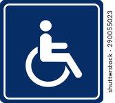 wheelchair handicap sign   Shutterstock .eps vector #290055023