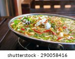 steam squid with spicy and...   Shutterstock . vector #290058416