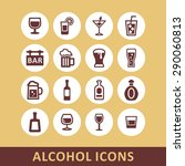alcohol icon set   Shutterstock .eps vector #290060813