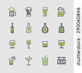 bar icon collection | Shutterstock .eps vector #290060846