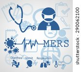 mers cov or middle east... | Shutterstock .eps vector #290062100