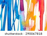 hires close up water color... | Shutterstock . vector #290067818