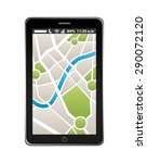 gps technology design  vector... | Shutterstock .eps vector #290072120