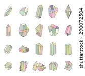 vector set of  soft colored... | Shutterstock .eps vector #290072504