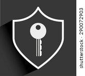 shield icon design  vector... | Shutterstock .eps vector #290072903