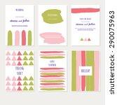 vector set backgrounds with... | Shutterstock .eps vector #290075963