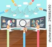 price movement. stock exchange...   Shutterstock .eps vector #290081450