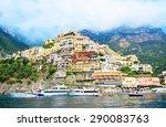 positano  italy   july 24  2012 ... | Shutterstock . vector #290083763