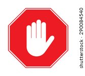 stop sign  no entry. hand sign... | Shutterstock .eps vector #290084540