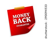 money back guarantee red sticky ... | Shutterstock .eps vector #290094533