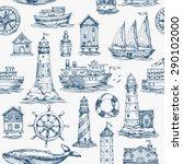 Nautical Elements Seamless...
