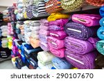 rolls of fabric and textiles in ... | Shutterstock . vector #290107670
