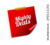 mighty deals red sticky notes... | Shutterstock .eps vector #290111153